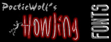 PoeticWolf's Howling Fonts